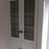 Kastdeur met glas in lood