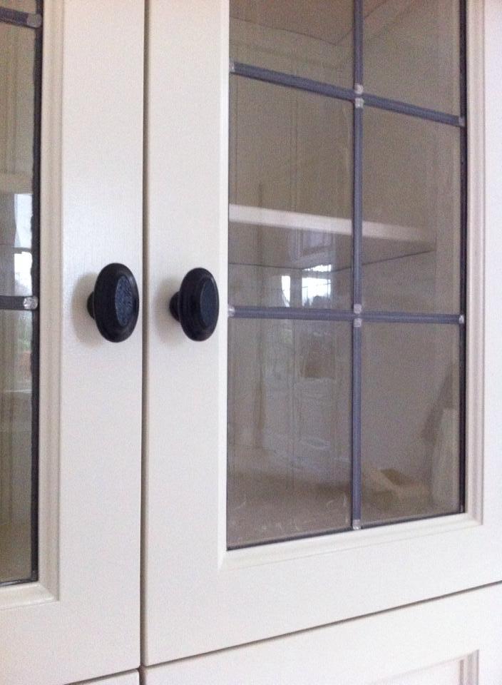 Wandkast Met Glas.Kastdeur Met Glas In Lood P J Van Der Vegt