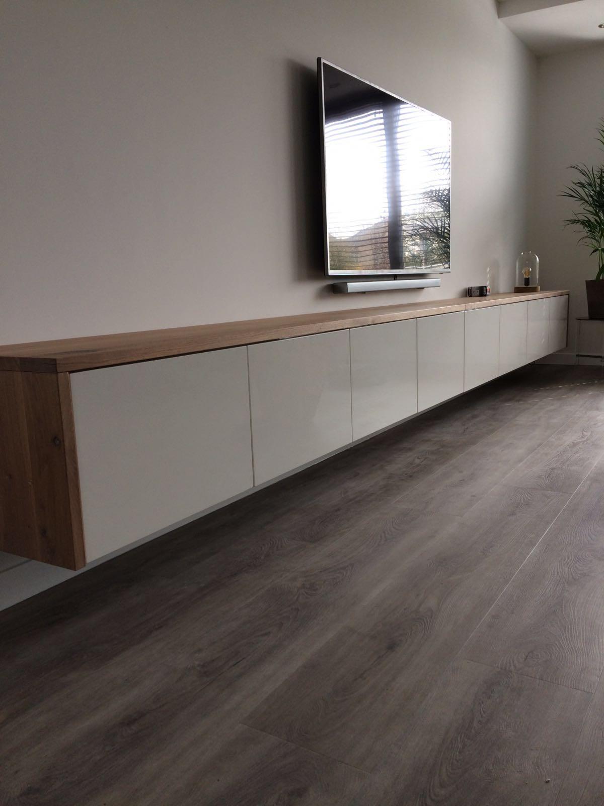 Zwevend tv meubel p j van der vegt for Modern tv meubel design