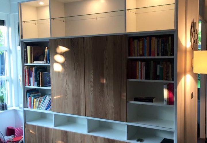 Wandkast Voor Woonkamer.Wandkast Woonkamer P J Van Der Vegt